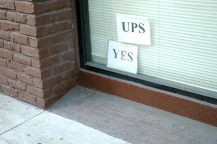UPS Pickup Sign