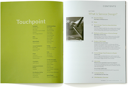 Touchpoint Journal of Service Design