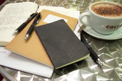 Coffee and Moleskine III from Lost in Scotland's Photostream
